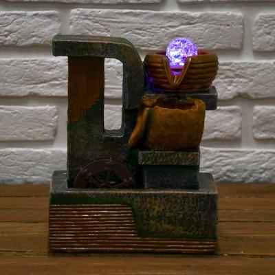 """Фонтан """"Каменный водопад"""" 12,5х17х25 см (с подсветкой)"""