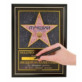 Диплом звезда 'Лучший из лучших' + маркер Ош