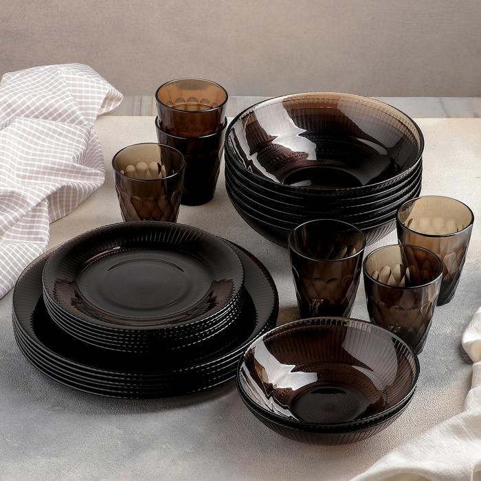 """Сервиз столовый """"Луиз. Эклипс"""", 26 предметов, со стаканами 200 мл"""