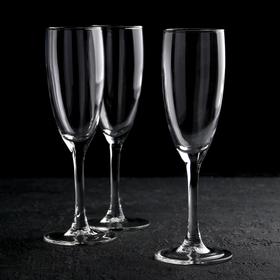 """Набор бокалов для шампанского 170 мл """"Эдем"""", 3 шт"""