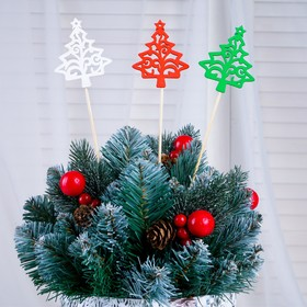 "Topper ""Tree with star"" multicolored (red, white, green), mix"
