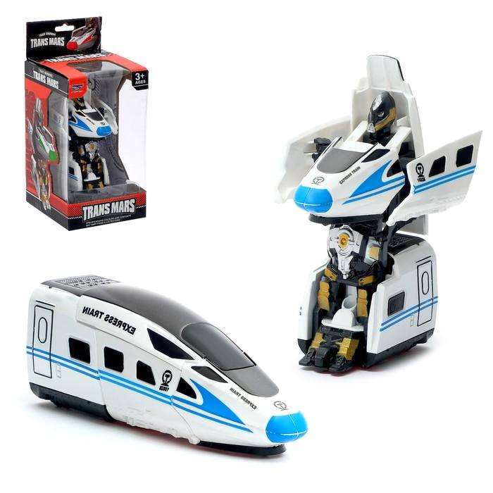 Робот инерционный «Поезд», трансформируется, с элементами из металла, цвета МИКС