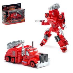 "Transformer robot ""Fireman"", with metallic elements"