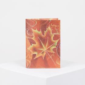 Обложка для паспорта, фотопечать, цвет оранжевый