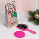 Подарочный набор «Мышка», 2 предмета: зеркало, массажная расчёска, цвет МИКС