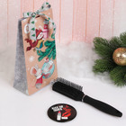 Подарочный набор «Стиль», 2 предмета: зеркало, массажная расчёска, цвет МИКС