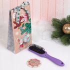 Подарочный набор «Индиго», 2 предмета: зеркало, массажная расчёска, цвет МИКС