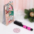 Подарочный набор «Пурпур», 2 предмета: зеркало, массажная расчёска, цвет МИКС