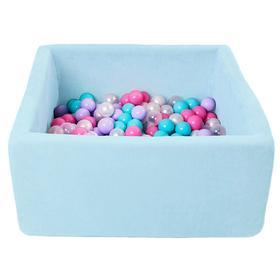 Сухой бассейн Airpool Box без шариков, цвет голубой