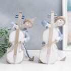 "Сувенир керамика ""Клоун с контрабасом"" цветной 27х12,5х15 см"