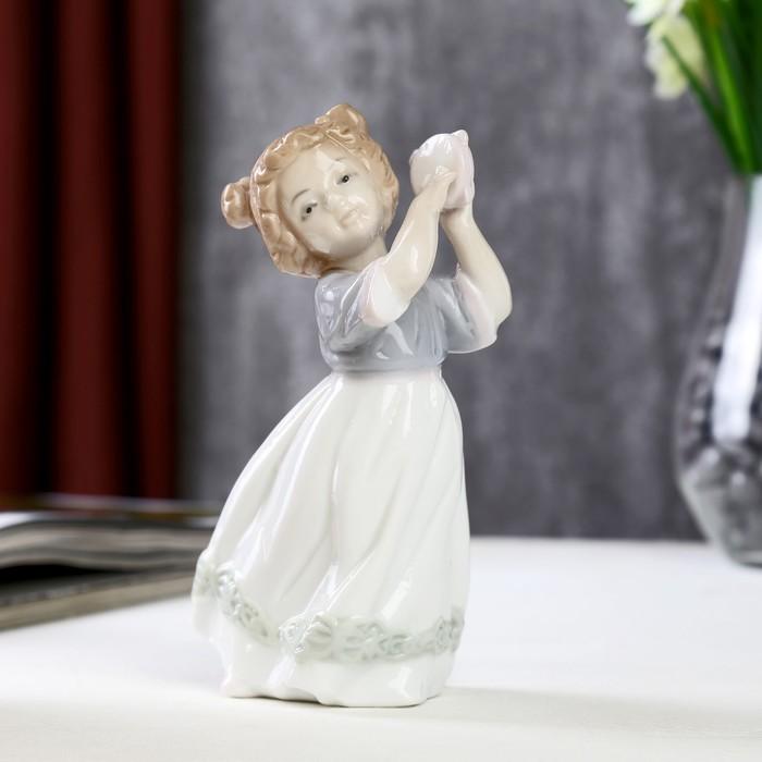 """Сувенир керамика """"Малышка с бубном"""" 14,5х8х6,5 см"""