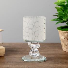 """Подсвечник стекло на 1 свечу """"Леопард"""" 12х6,8х6,8 см"""