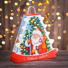 """Подарочная коробка """"Дед Мороз и Снегурочка"""", 33,2 х 32,7 х 11,5 см"""