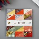 Набор бумаги для скрапбукинга DCWV - Коллекция «Fall Forest» - 15х15 см