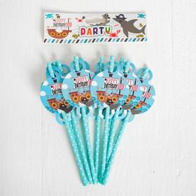Трубочки для коктейля «Акула», набор 10 шт.