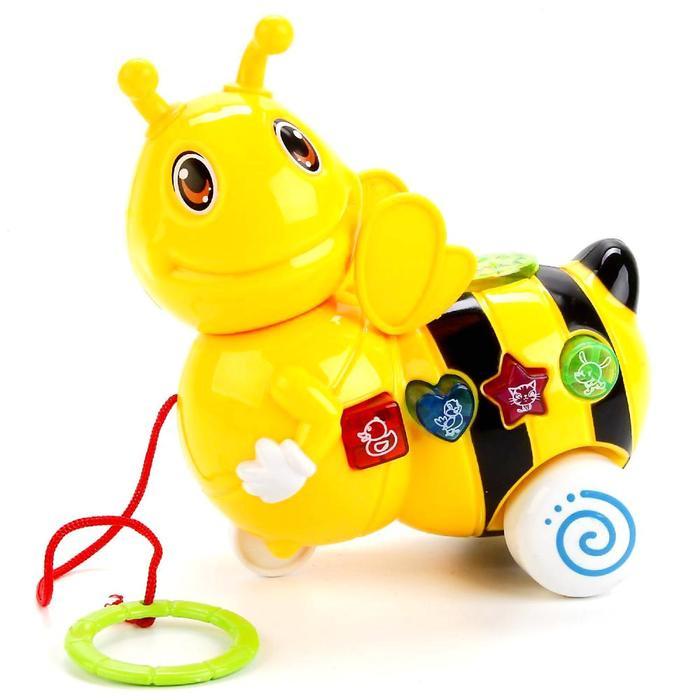 Каталка музыкальная «Пчёлка», со сказкой Корнея Чуковского, световые эффекты