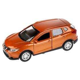 Машина металлическая, инерционная Nissan Qashqai, 12 см, двери открываются, цвет золотой