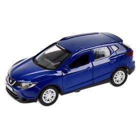 Машина металлическая, инерционная Nissan Qashqai, 12 см, цвет синий, открываются двери, инерционная