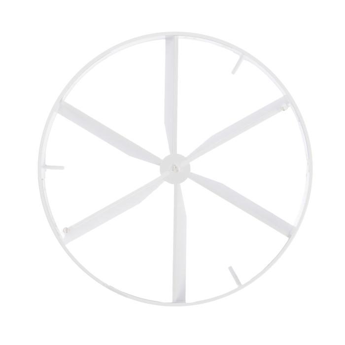 Пластина затворная VENTS 125 КО, d=100 мм, цвет белый
