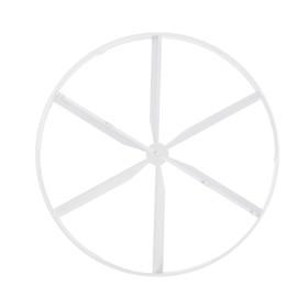 Пластина затворная VENTS 150 КО, d=100 мм, цвет белый