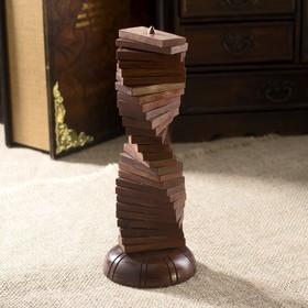 """Игра """"Домино на стойке"""" дерево 22,5х7,5х7,5 см"""