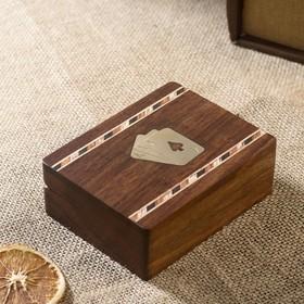 "Игра дерево ""Колода карт в шкатулке"" 12х9х4 см"