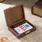 """Gift set """"a Deck of cards and the dice"""" 12,5x10,5x3,7 cm"""