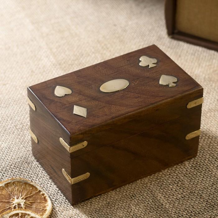 "Сувенирный набор ""Две колоды карт"" 13х8х8,5 см"