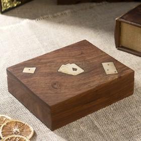 """Сувенирный набор """"Три игры""""(карты,домино, кубики) 17х14х5,2 см"""