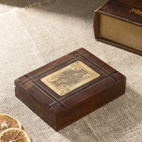 "Набор игр ""Колоды  карт"" дерево 15х11,5х4 см"