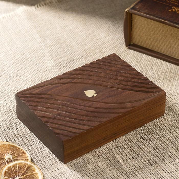 "Набор игр ""Колоды  карт"" дерево 16,5х12х4 см"