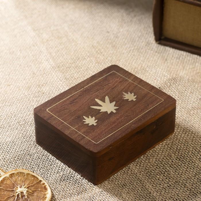"""Настольная игра """"Колода карт в шкатулке"""" дерево 12х9х4 см"""