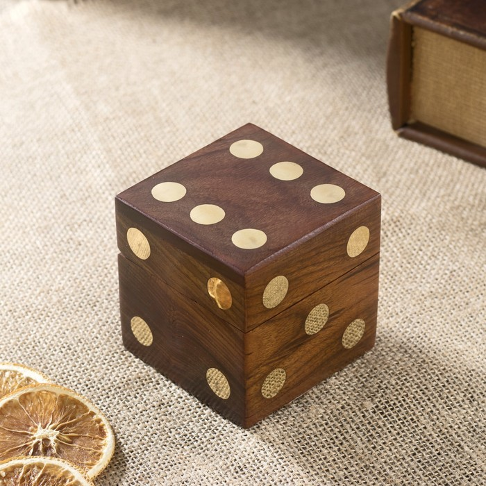 "Шкатулка дерево ""Кубик"" (5 кубиков) 7,5х7,5х7,5 см"
