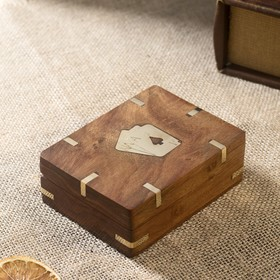 "Шкатулка дерево ""Колода карт"" 11х8,5х4 см"