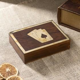 "Шкатулка дерево ""Две колоды карт"" 15,5х11,5х4 см"