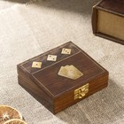 """Gift set """"Deck of cards + dice"""" (5 dice) 12x10,5x4,5 cm"""