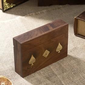 "Сувенирный набор ""Две колоды карт + кости"" (5 кубиков) 16,5х11х4 см"