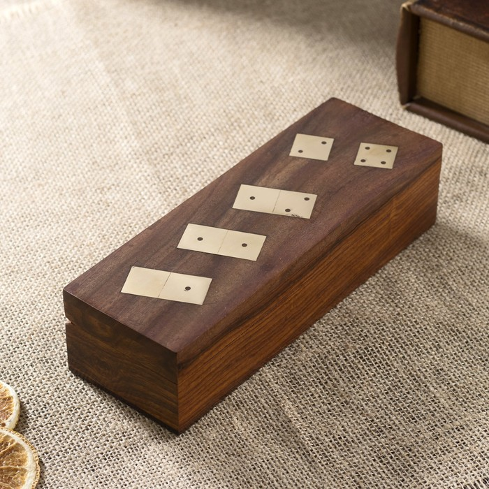 "Сувенирный набор ""Домино + кости"" (5 кубиков) 19,5х5,5х5 см"