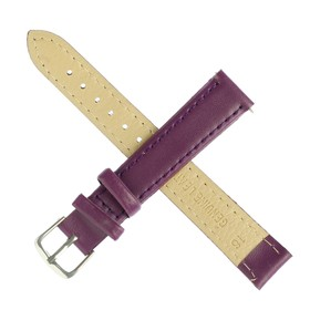 Watchband, 16 mm, women's, genuine leather, l=20 cm, lilac