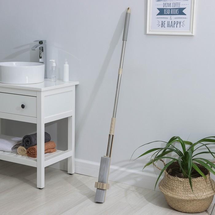 Швабра PVA с вертикальным отжимом, стальной черенок 31,5х5,5 см - фото 4646920