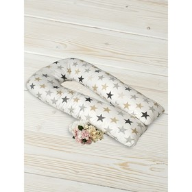 Наволочка на подушку для беременных, размер 35 × 340 см,  принт звезды пэчворк