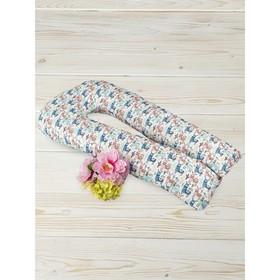 Наволочка на подушку для беременных, размер 35 × 340 см, принт ламы