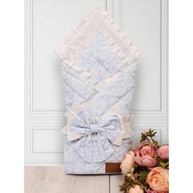 Одеяло-конверт на выписку «Элит», размер 93 × 93 см, цвет голубой