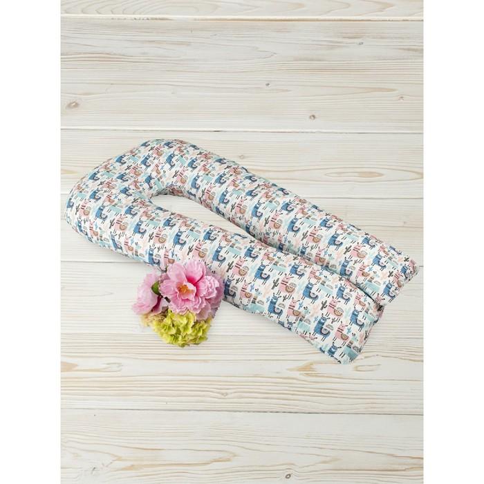 Подушка для беременных  u-образная, размер 35 × 340 см, принт ламы