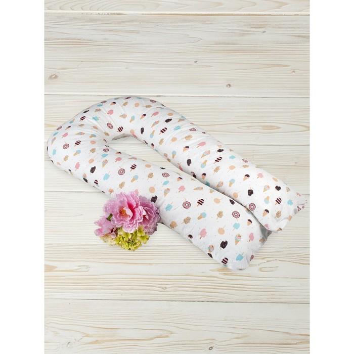 Подушка для беременных  u-образная, размер 35 × 340 см, принт эскимо