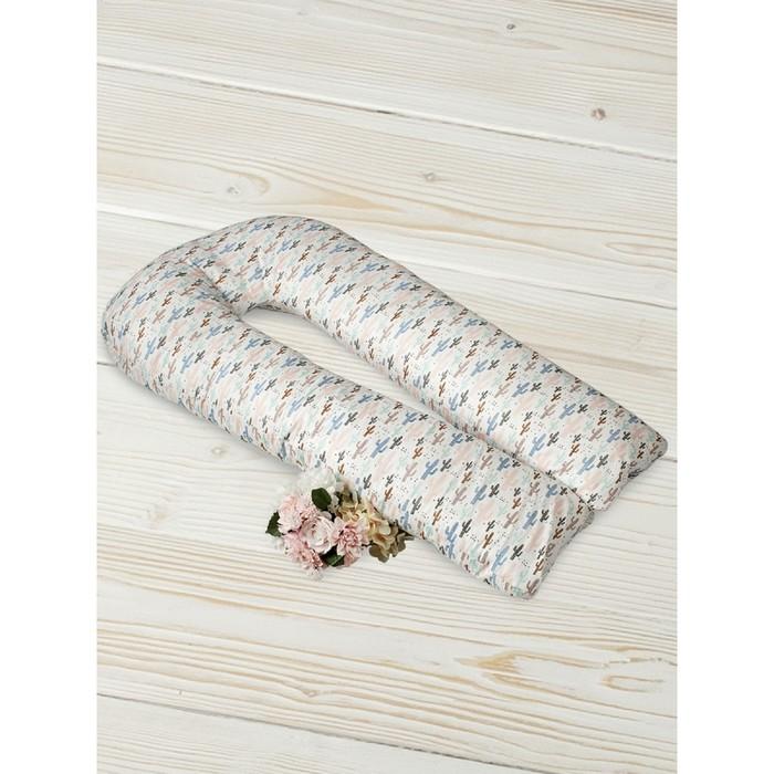 Подушка для беременных  u-образная, размер 35 × 340 см, принт техас