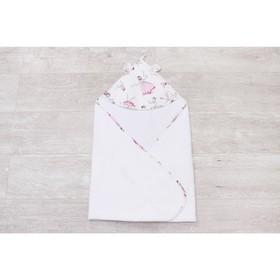 Полотенце-уголок Cute love, размер 90 × 90 см, принт  амели, цвет белый