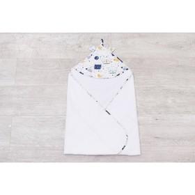Полотенце-уголок Cute love, размер 90 × 90 см, принт  космос, цвет белый