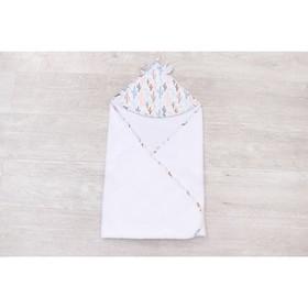Полотенце-уголок Cute love, размер 90 × 90 см, принт  техас, цвет белый