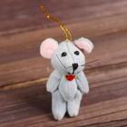 Мягкая игрушка-подвеска «Мышка с цветком», цвета МИКС